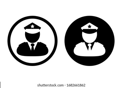 police icon set on white background
