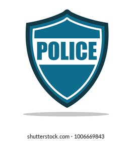 Police icon vector illustration flat design