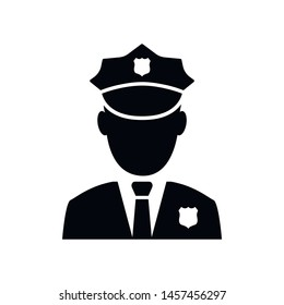 Police Icon vector. Policeman Officer avatar illustration. Element of war and piece. Signs and symbol for websites, web design, mobile app on white background