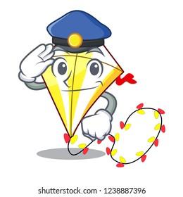 Police Kite cartoon fly away in sky