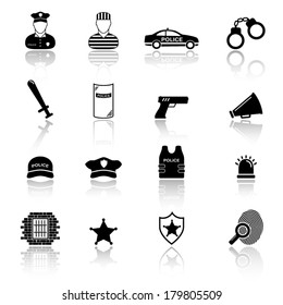 Police and law enforcement icons