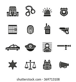 Police and law enforcement icons.