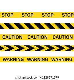 Police line. Caution. Vector Flat design