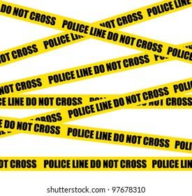 Police line. Do not cross. Crime scene vector background.