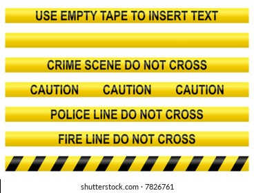 Police line tapes with a blank one to insert your own text