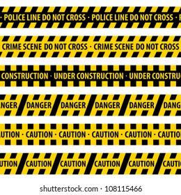 Police Line. vector illustration.