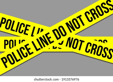police line is yellow and grey background. vector art. eps file