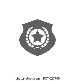 Police logo icon in trendy flat style isolated on white background. Symbol for your web site design, logo, app, UI. Vector illustration, EPS