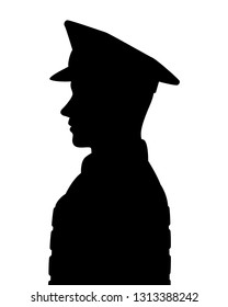 Police man silhouette vector