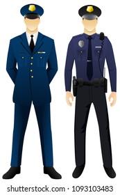 Police man uniform graphic vector