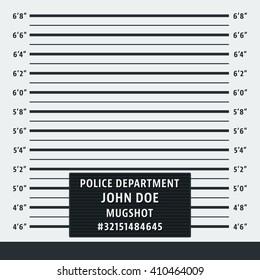 Police mugshot. Police lineup background. Vector illustration