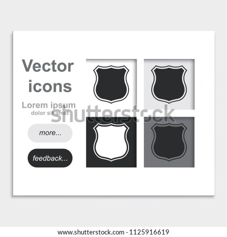Police Office Badge Sign Flat Placed Stock Vector Royalty Free