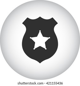 Police office badge sign simple icon on background