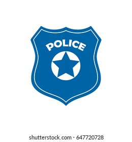 Police officer badge icon vector on white background