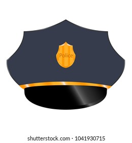 Police officer cap vector illustration