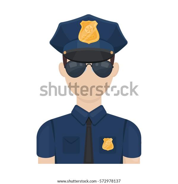 Image Vectorielle De Stock De Icone D Agent De Police En Dessin 572978137