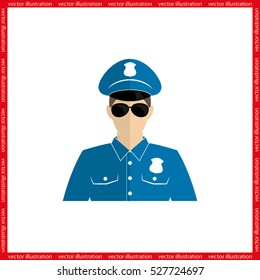 Police officer icon vector illustration eps10.