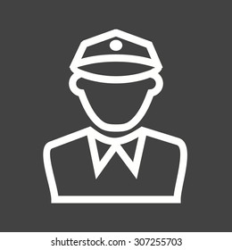 Police, officer, man icon vector image. Can also be used for professionals. Suitable for web apps, mobile apps and print media.