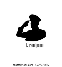 police salute .general army salute silhouette