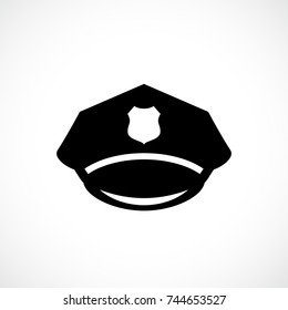 Police service hat icon illustration isolated on white background