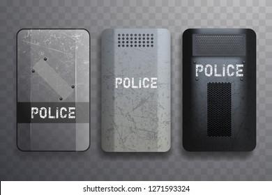 Police shield set