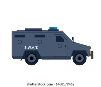 Police swat van icon. Clipart image isolated on white background