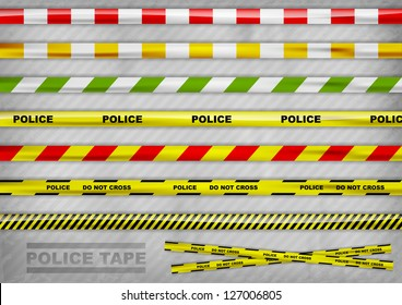 police tapes in the various colur