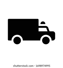 police vector glyph flat icon