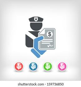 Policeman fine icon