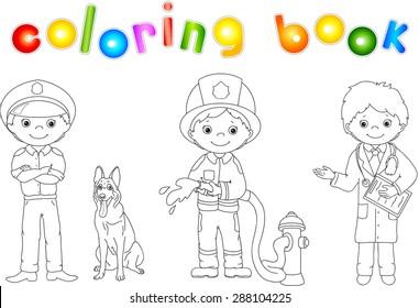 Imágenes, fotos de stock y vectores sobre Fireman Coloring ...
