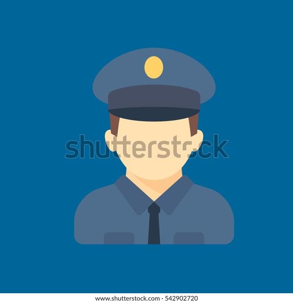 policeman icon flat disign