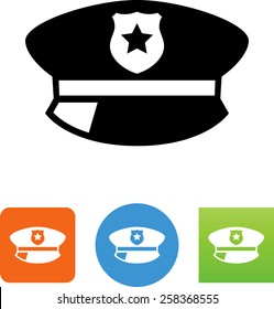 Policeman's hat icon