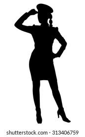 policewoman standing