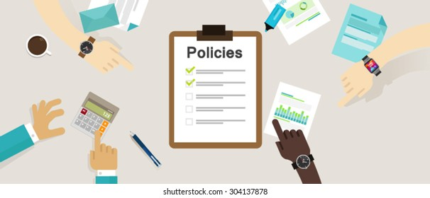 policies board company policy check list
