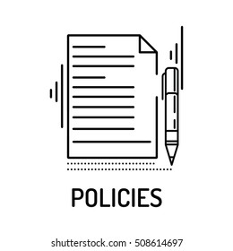 POLICIES Line icon