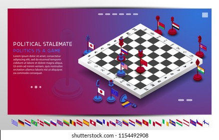 policy, country, game, chess, flag, set, background, chess Board, geopolitics, isometric, presentation, economy, Finance, Russia, America, USA, competition, confrontation, UK, England, China, France,