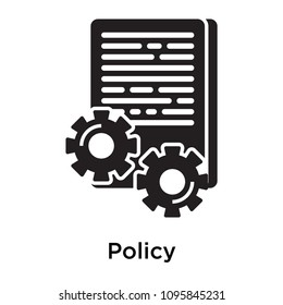 Policy icon isolated on white background for your web and mobile app design, Policy vector pixel perfect icon