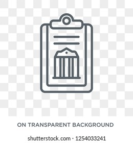 policy icon. Trendy flat vector policy icon on transparent background from law and justice collection. High quality filled policy symbol use for web and mobile