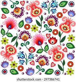 polish folk pattern - background