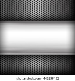 Polished steel texture on hold metal abstract background vector illustration eps10