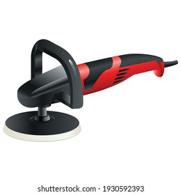 polishing machine tool - isolated on white background - vector design