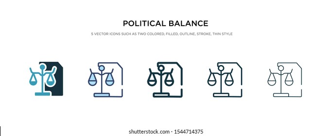 political balance icon in different style vector illustration. two colored and black political balance vector icons designed in filled, outline, line and stroke style can be used for web, mobile, ui