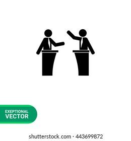 Political debates simple icon