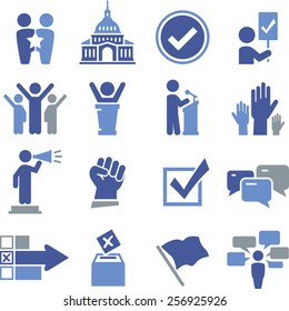 Political and election icon set