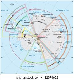 Antarctica Map Images Stock Photos Vectors Shutterstock