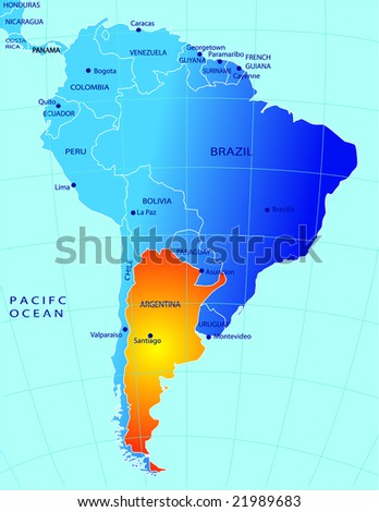 Political Map Argentina Stock Vector Royalty Free 21989683
