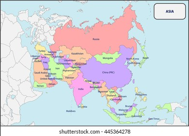 Map Of Asia Political.Asia Political Map Images Stock Photos Vectors Shutterstock