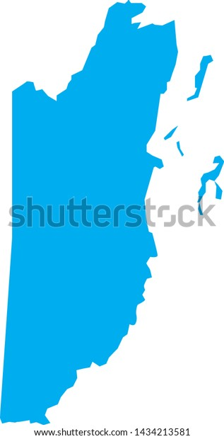Political Map Belize Central America Stock Vector (Royalty ...