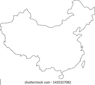 Political map of China in Asia