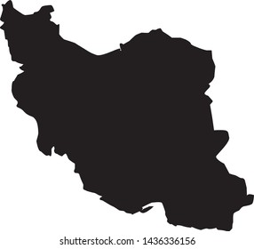 political map of country of Iran